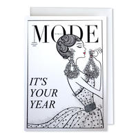 "✦Yurika's Drawing✦ ""MODE magazine [JANUARY 2020]"" GREETING CARD[L]"
