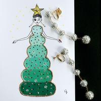 """""""I'M CHRISTMAS TREE LADY"""" GREETING CARD[L]"""