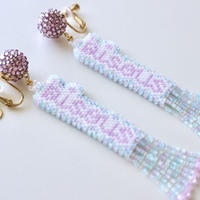 "JULICA | BONBON LETTRE Earrings ""bisous"""