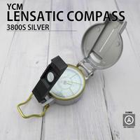 YCM|レンザティックコンパス 3800S|シルバー|アルミダイキャスト|高性能|方位磁石