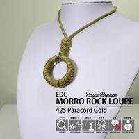 Royal Breeze | モッロ ロック ルーペ  ゴールド | 425 パラコード  ペンダント