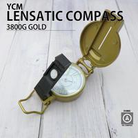 YCM|レンザティックコンパス 3800G|ゴールド|アルミダイキャスト|高性能|方位磁石