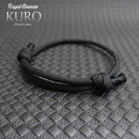 EDC ワーロ KURO 黒 サイズ調整型 パラコード ブレスレット  日本製