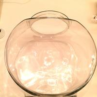 ガラス製楕円形砂浴び壷