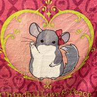 【デ・カレン誕生祭】「ChinchilLove & Peace」ブランケット