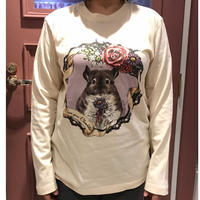 【レターパック用/単体で2枚まで/代引・日時指定不可】*Chinchilla souri**コラボグッズ  『デ・カレン長袖Tシャツ』