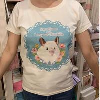 お花畑のトゥーさんTシャツ(アイボリー)