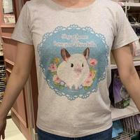 お花畑のトゥーさんTシャツ(オートミール)