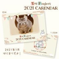 【ゆうパケット発送(350円)/6部まで可/他商品同梱不可】《Toi Project》2021 Calendar