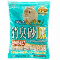 GEX ラビレット ヒノキア消臭砂DX5.5L【超吸収・天然抗菌・消臭成分配合】
