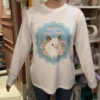 【MH5周年限定復活販売】お花畑のトゥーさんロングスリーブシャツ(ホワイト)