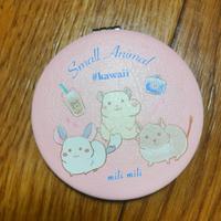 《ぽこじろう》折りたたみコンパクトミラー #Kawaii small animal