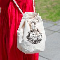 《Chinchilla souri*》チンチラリース厚手コットンミニロープバッグ