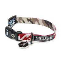 WOLFGANG MAN&BEAST CamoFlag COLLAR ( S size ) WC-001-41