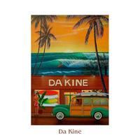ヒロクメアート 四つ切マット付 サーフボードのある風景が描かれたハワイアンアート『Da Kine』。HK014A