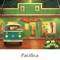 ヒロクメアート 2Lマットスタンド サーフボードのある風景が描かれたハワイアンアート『Pacifica』。HK007E