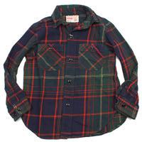 【DENIM DUNGAREE】ホクセツチェック シャツ 4NV  00798113   size  BM(90)