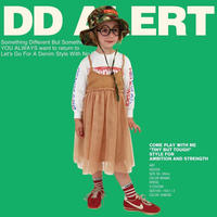 DENIM DUNGAREE/Go To Hollywood|ビンテージ天竺 レイヤード ワンピース  100,120