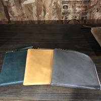 ANCHOR BRIDGE  Short Zip Wallet 01 – Waxed 3 colors