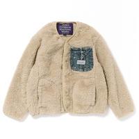 【DENIM DUNGAREE】リョウメンボア ポケット ジャケット サイズ100-120