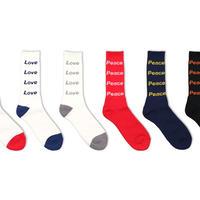 decka   Pile Socks / Love & Peace    ウィメンズ