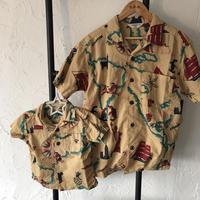 DENIM DUNGAREE | キャンブリック アロハ シャツ 品番00792115 サイズ01(150)-02(160)