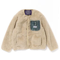 【DENIM DUNGAREE】リョウメンボア ポケット ジャケット サイズ130-140