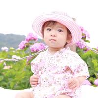 小花柄甚平ロンパース