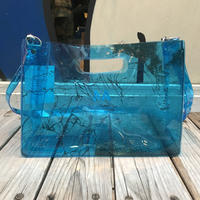 AKIRA Art of Wall x nana-nana A4 Clear Bag (Blue)