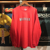 "【残り僅か】RUGGED ""NEET FLEX""  L/S tee (Red)"