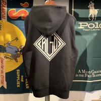 """【残り僅か】RUGGED """"DIA LOGO""""sweat hoodie (Black/10.0oz)"""