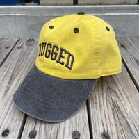 """【ラス1】 RUGGED """"ARCH LOGO""""  adjuster cap (Yellow×Black)"""