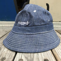 【残り僅か】RUGGED on Deadstock ''rugged®︎'' metro bucket hat (Denim)