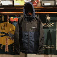 "【ラス1】RUGGED ""Real/Fake"" nylon shell parka (Navy)"