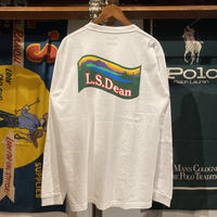 "【ラス1】RUGGED ""L.S.Dean"" L/S tee (White)"