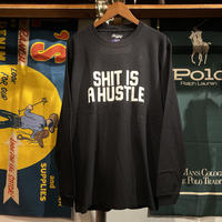 "【残り僅か】RUGGED ""SHIT IS A HUSTLE"" L/S tee (Black)"