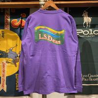 """【ラス1】RUGGED """"L.S.Dean"""" L/S tee (Purple)"""