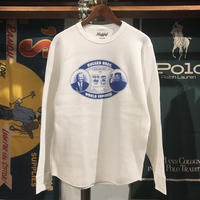"【残り僅か】RUGGED ""SHOW ME YA WEAPON"" heavy weight thermal  (White/10.3oz)"