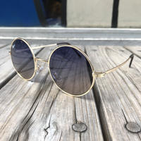 "【ラス1】RUGGED ""Round"" sun-glasses (Navy)"