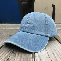 【残り僅か】RUGGED ''cursive logo'' adjuster cap (Light Denim)