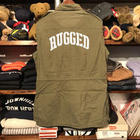 """RUGGED on vintage """"ARMY ARCH"""" light military jacket (M)"""