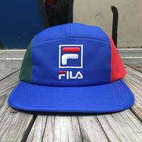 【残り僅か】FILA 5panel adjuster cap (Blue)