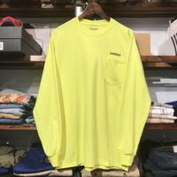 """【残り僅か】RUGGED """"rugged®︎"""" pocket L/S tee (Light Yellow)"""