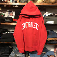 "【残り僅か】RUGGED ""ARCH LOGO"" sweat hoodie (Red/10.0oz)"