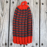 RAME  border knit tam (Red)