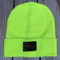 【残り僅か】RUGGED tag beanie (Neon Yellow)