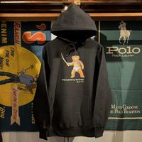 """【残り僅か】RUGGED """"POLO JINGI""""reverseweave  sweat hoodie (Black/12.0oz)"""