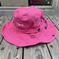 "【WEB限定/残り僅か】RUGGED ""rugged®︎"" logo string bucket hat (Pink)"
