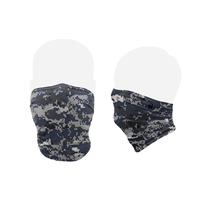 【ラス1】Badger SPORT camouflage face mask (Blue degi)