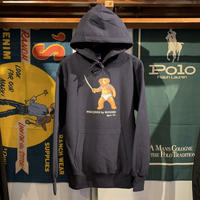 "RUGGED ""POLO JINGI"" reverseweave sweat hoodie (Navy/12.0oz)"